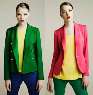 луки color blocking в трех цветах